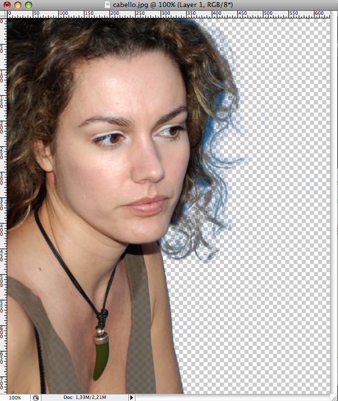 Remove the background of a complex image (extracting hair)