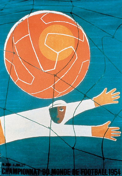 Switzerland 1954 world cup poster